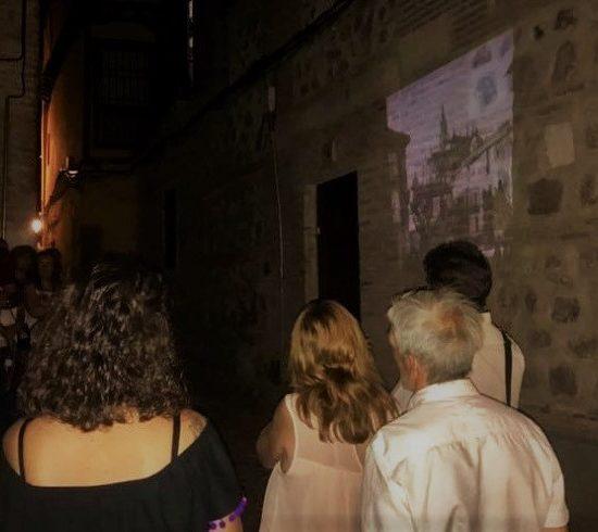 Imágenes y vídeos proyectadas durante la ruta Toledo es Sueño, en Toledo, por Imagine Toledo