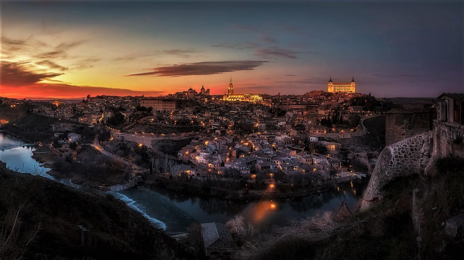 Vista panorámica de Toledo desde el mirador del valle